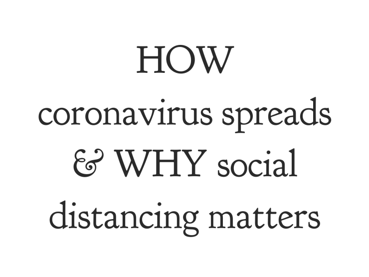 how coronavirus spreads, why social distancing matters, emma hogg, pier luigi buttigieg, a life i choose